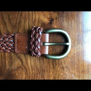 Leather Brown Braided Belt
